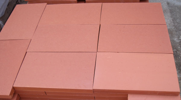 carreaux terre cuite gamme rustique couleur rouge aspect lisse