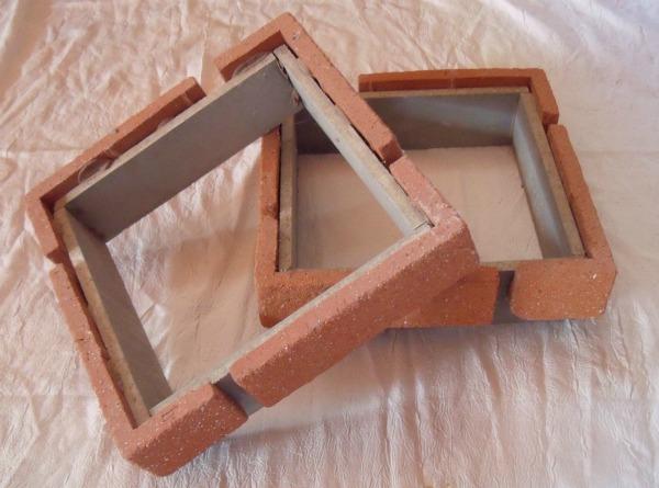 element de pilier en brique rouge. Black Bedroom Furniture Sets. Home Design Ideas